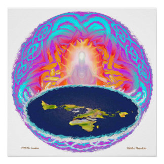YHWH's Creation ~ painting by Hidden Mountain Perfect Poster