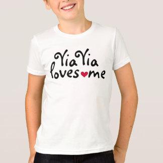 Yia Yia loves me shirt