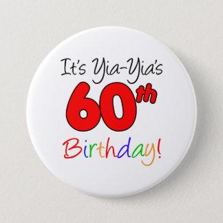 Yia-Yia's 60th Milestone Birthday Party Button
