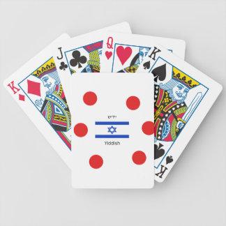 Yiddish Language And Israel Flag Design Bicycle Playing Cards