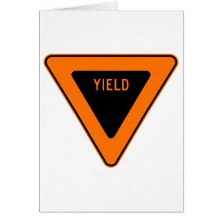 Yield Street Road Sign Symbol Caution Traffic Card