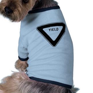 Yield Street Road Sign Symbol Caution Traffic Dog Tshirt