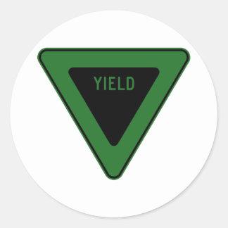 Yield Street Road Sign Symbol Caution Traffic Round Sticker