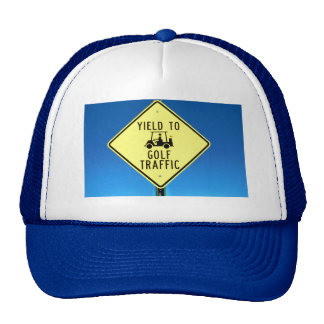 Yield to Golf Traffic Mesh Hat