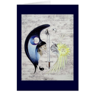 """Yin and Yang"" Art Card"