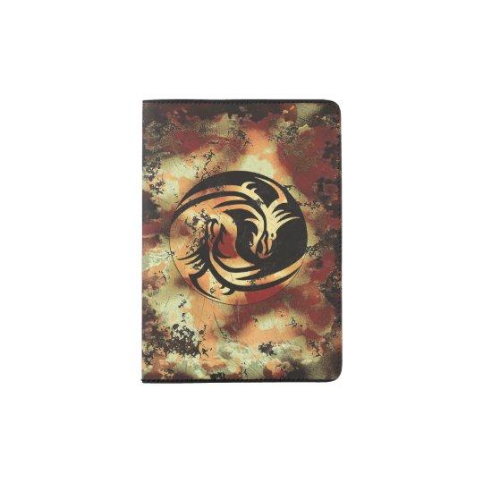 Yin and Yang Asian Dragons Passport Holder