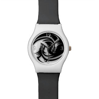 Yin and Yang Asian Dragons Watch
