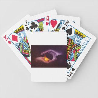 Yin and yang bicycle playing cards