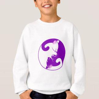 Yin and Yang Cats Sleeping Sweatshirt