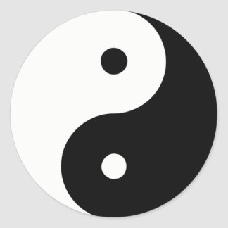 Yin And Yang Classic Round Sticker