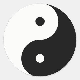 Yin And Yang Classic Round Sticker