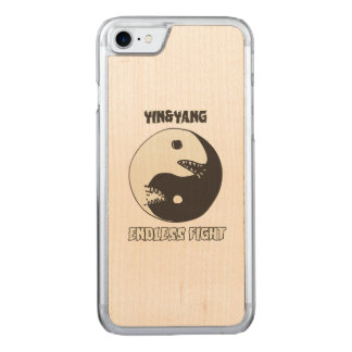 yin and yang endless fight cartoon style carved iPhone 7 case