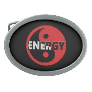 Yin and yang energy concept. belt buckle