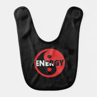 Yin and yang energy concept. bibs
