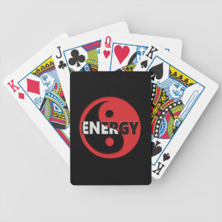 Yin and yang energy concept. bicycle playing cards
