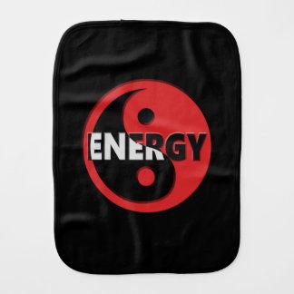 Yin and yang energy concept. burp cloths