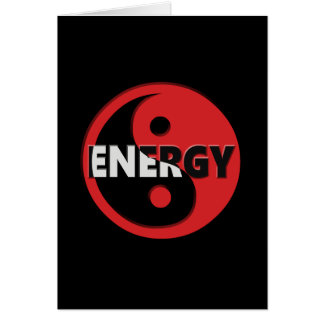 Yin and yang energy concept. card