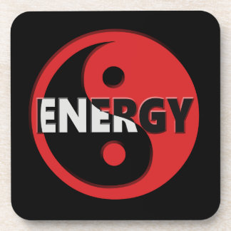 Yin and yang energy concept. coaster