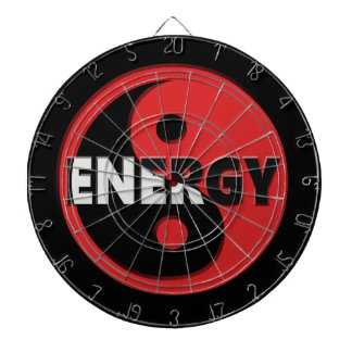 Yin and yang energy concept. dart boards