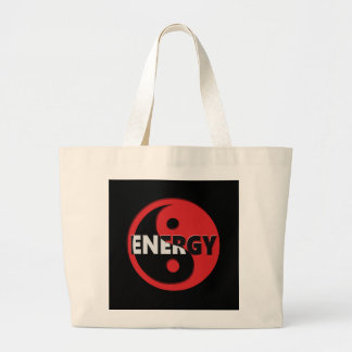 Yin and yang energy concept. large tote bag