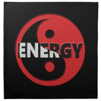 Yin and yang energy concept. napkin