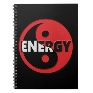 Yin and yang energy concept. note books