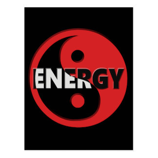 Yin and yang energy concept. postcard
