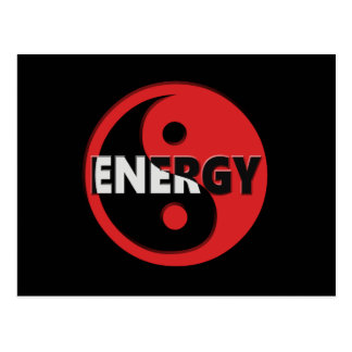 Yin and yang energy concept. postcard