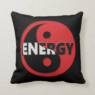 Yin and yang energy concept. throw pillow