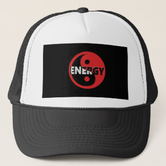 Yin and yang energy concept. trucker hat
