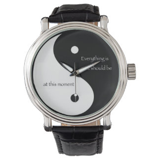 """Yin and Yang """"Everything is as it should be..."""" Watches"""