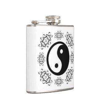 Yin and Yang Hip Flask