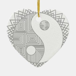 Yin and Yang I Ceramic Ornament