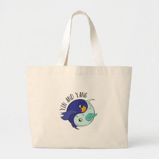 Yin And Yang Large Tote Bag