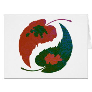 Yin and Yang Leaves Card