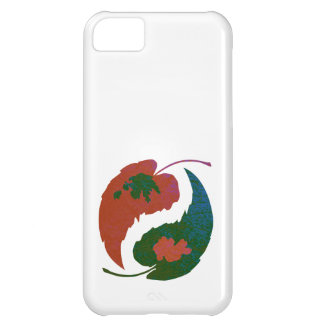 Yin and Yang Leaves Case For iPhone 5C
