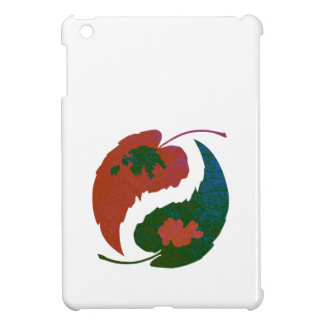 Yin and Yang Leaves iPad Mini Case