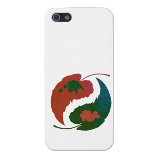 Yin and Yang Leaves iPhone 5/5S Cases