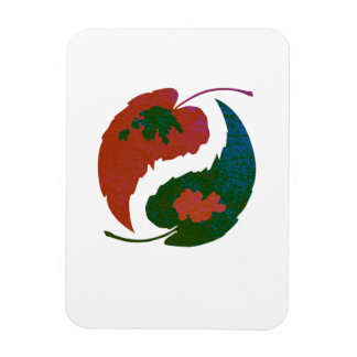 Yin and Yang Leaves Magnet