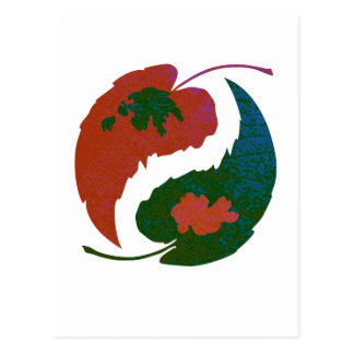 Yin and Yang Leaves Postcard