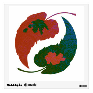 Yin and Yang Leaves Wall Sticker