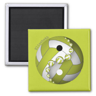 Yin and yang lime or ANY colour girls' volleyball Magnet