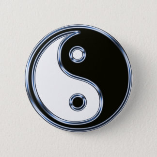Yin and Yang Medallion 2 Inch Round Button