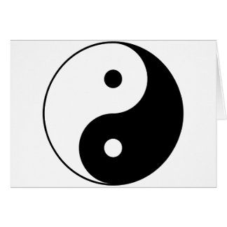 Yin and Yang Motivational Philosophical Symbol Card