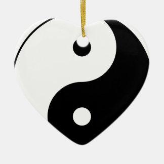 Yin and Yang Motivational Philosophical Symbol Ceramic Ornament