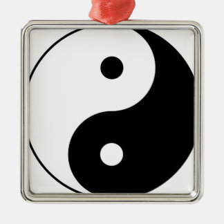 Yin and Yang Motivational Philosophical Symbol Metal Ornament