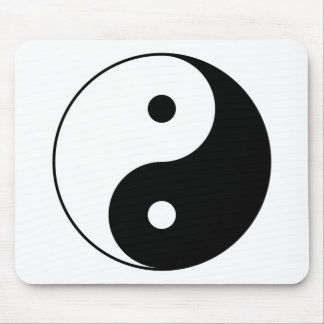 Yin and Yang Motivational Philosophical Symbol Mouse Pad