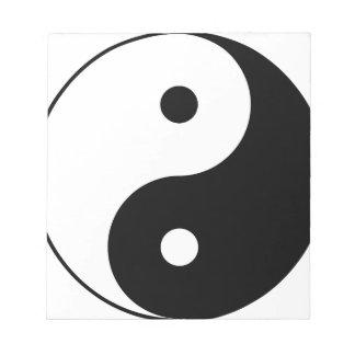 Yin and Yang Motivational Philosophical Symbol Notepad