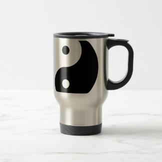 Yin and Yang Motivational Philosophical Symbol Travel Mug