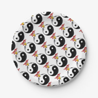Yin and Yang Ornament 7 Inch Paper Plate